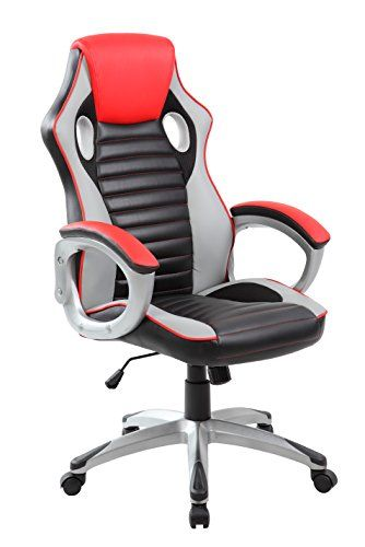 Anji Modern High Back Erogonomic Racing Style PC Computer Gaming Chair  Executive Swivel PU Leather Office