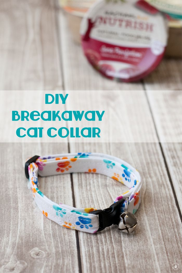 How to make a DIY breakaway cat collar for your cat. You will need a few things to get started, including: a sewing machine, 1/2 yard of interface, 1/2 yard of cotton fabric, coordinating thread and breakaway buckle iron.