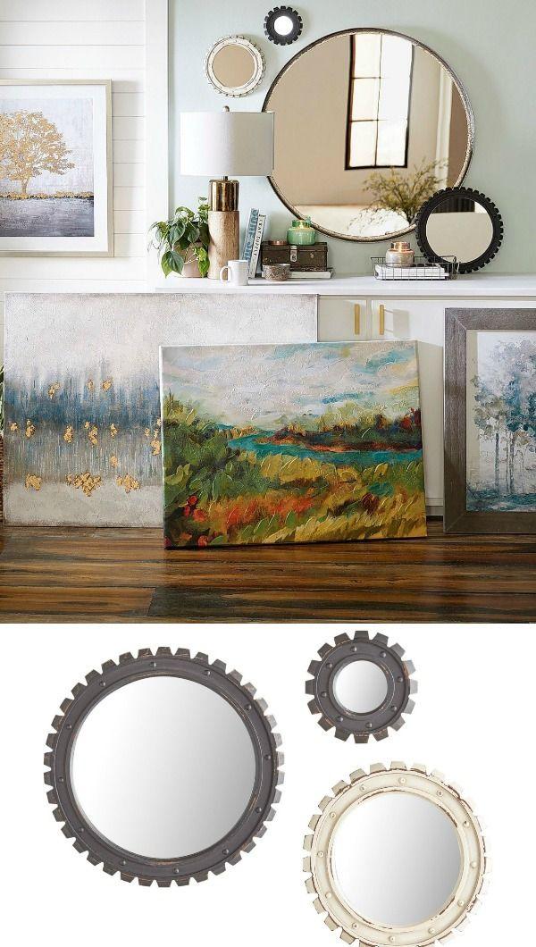 Mini gear black  white mirror set in  home decor group board pinterest also rh br