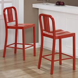 Red Metal Counter Stools Kitchen; Iu0027d Want These In Another Color.