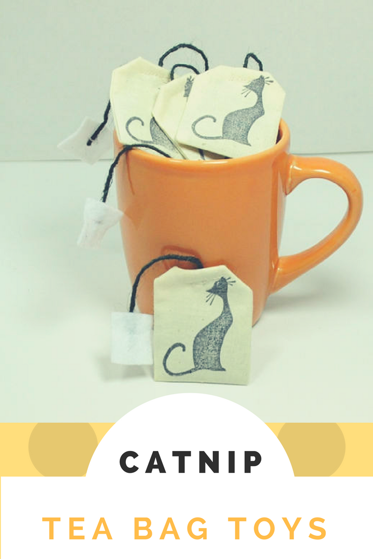"""Catnip tea bag toys, may cat will love the """"tail""""of the"""