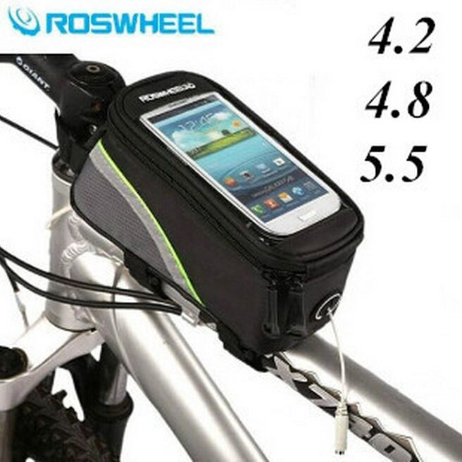 West Biking Bicycle Front Frame Bag Touch Screen Pouch Bag Bicycle