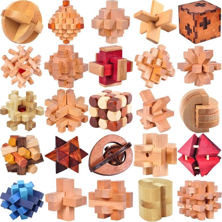 Classic Iq Wooden Puzzle Mind Brain Teasers Burr Puzzles Game Toys For Adults Children Wooden Puzzles Wooden Puzzles Games Puzzles Gifts