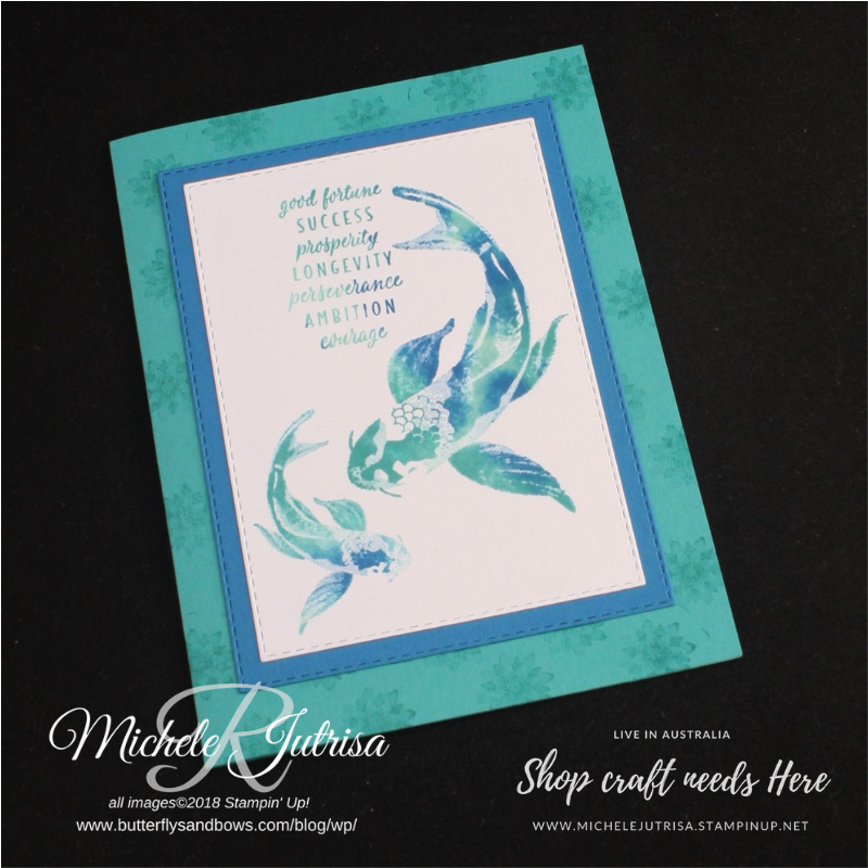 The stamp set by Stampin' Up! used is 'All the Good Things