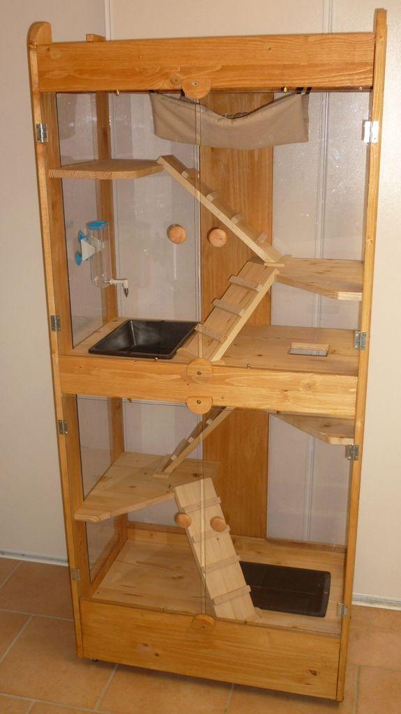 grande cage furet pets pinterest ferret chinchillas. Black Bedroom Furniture Sets. Home Design Ideas