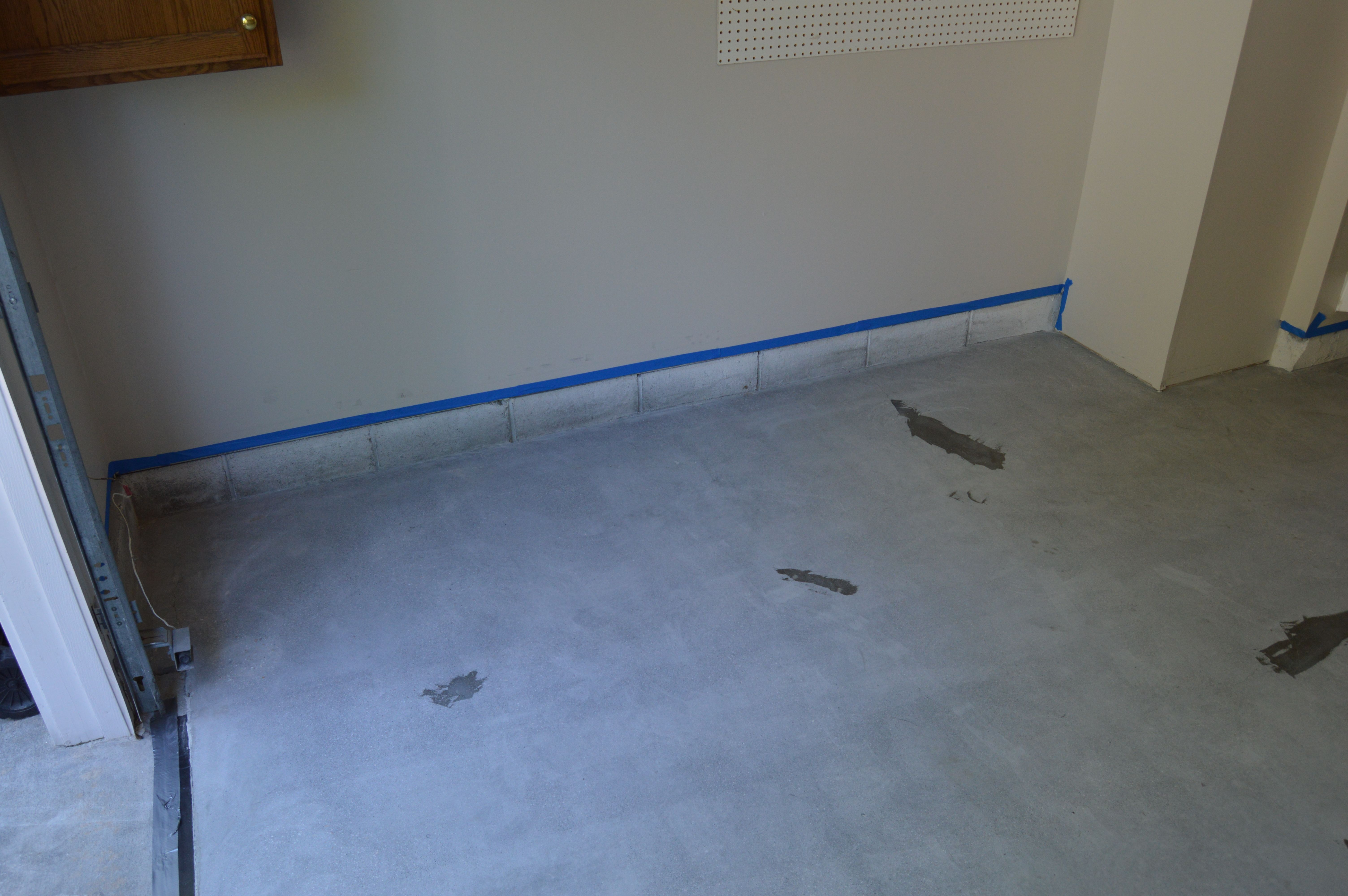 Garage Floor By Tailored Living Featuring PremierGarage (Before)