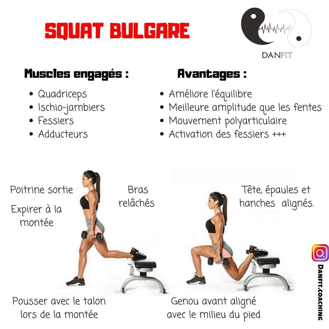 Le squat bulgare, l'un de mes exercices préféré lors de mes séances jambes 👊 L'un des meilleurs pour...