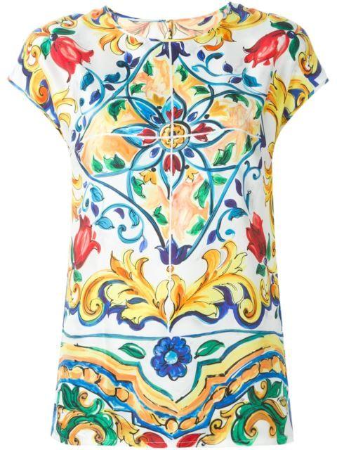 79ea1322 DOLCE & GABBANA Majolica Print Top. #dolcegabbana #cloth #top ...