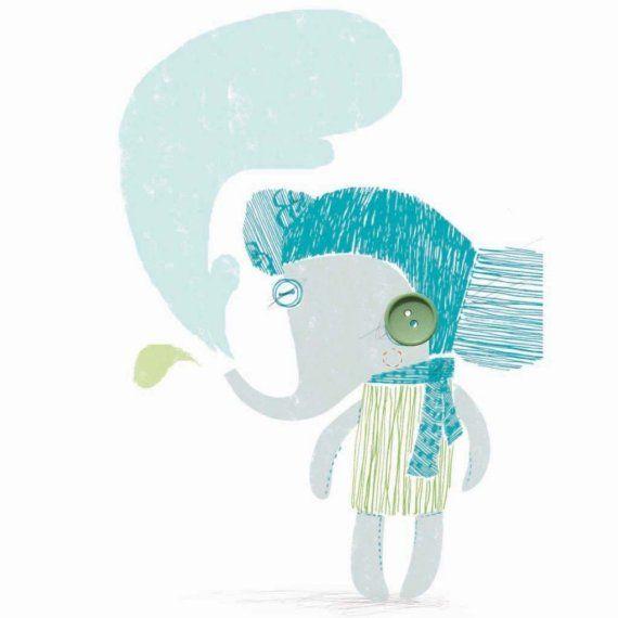 Set of 4 button-eyed Creatures cards Set 2 por AbigailBrown en Etsy
