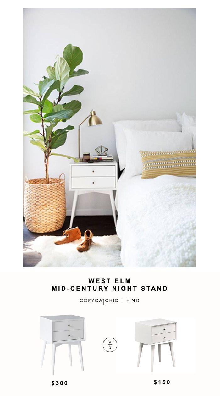 West Elm Mid Century Nightstand Copycatchic Minimalist Home Decor Minimalist Bedroom Home Decor Inspiration