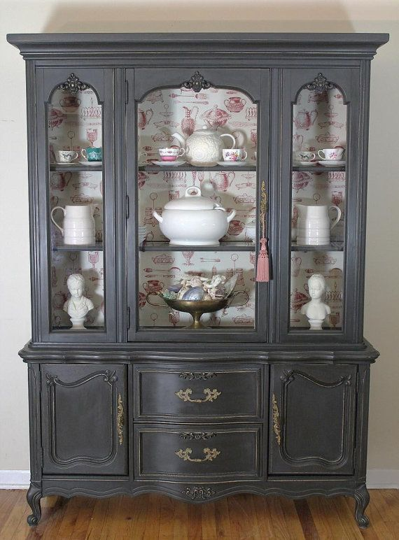 French China Cabinet Is Hold For Lucie By Lavanttehome On Etsy 750 00