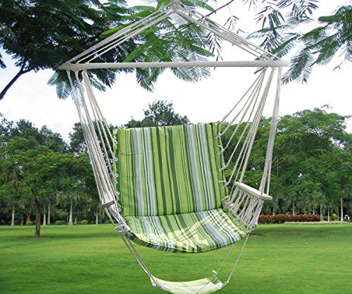 Green Leisure Swing Hammock Hanging Outdoor Chair Garden Patio Yard 260Lbs Max ** Visit the image link more details.