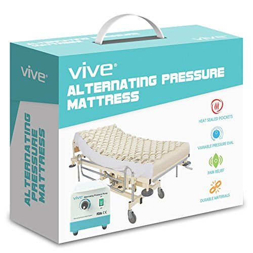 alternating pressure mattress by vive includes electric pump