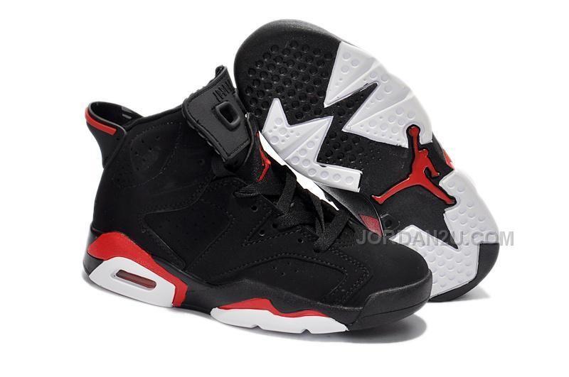 Nike Air Jordan 6 Kids Black Red, Price: $79.00 - New Air Jordan Shoes 2016