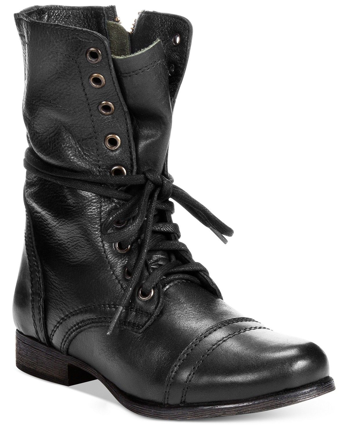 c8367cab3cf Steve Madden Women s Troopa Combat Boots - Boots - Shoes - Macy s Zapatos