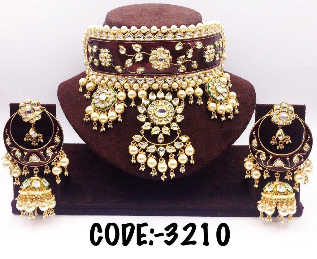 Real Kundan and Meenakari Jewelry Set | Gold jewelry for ...