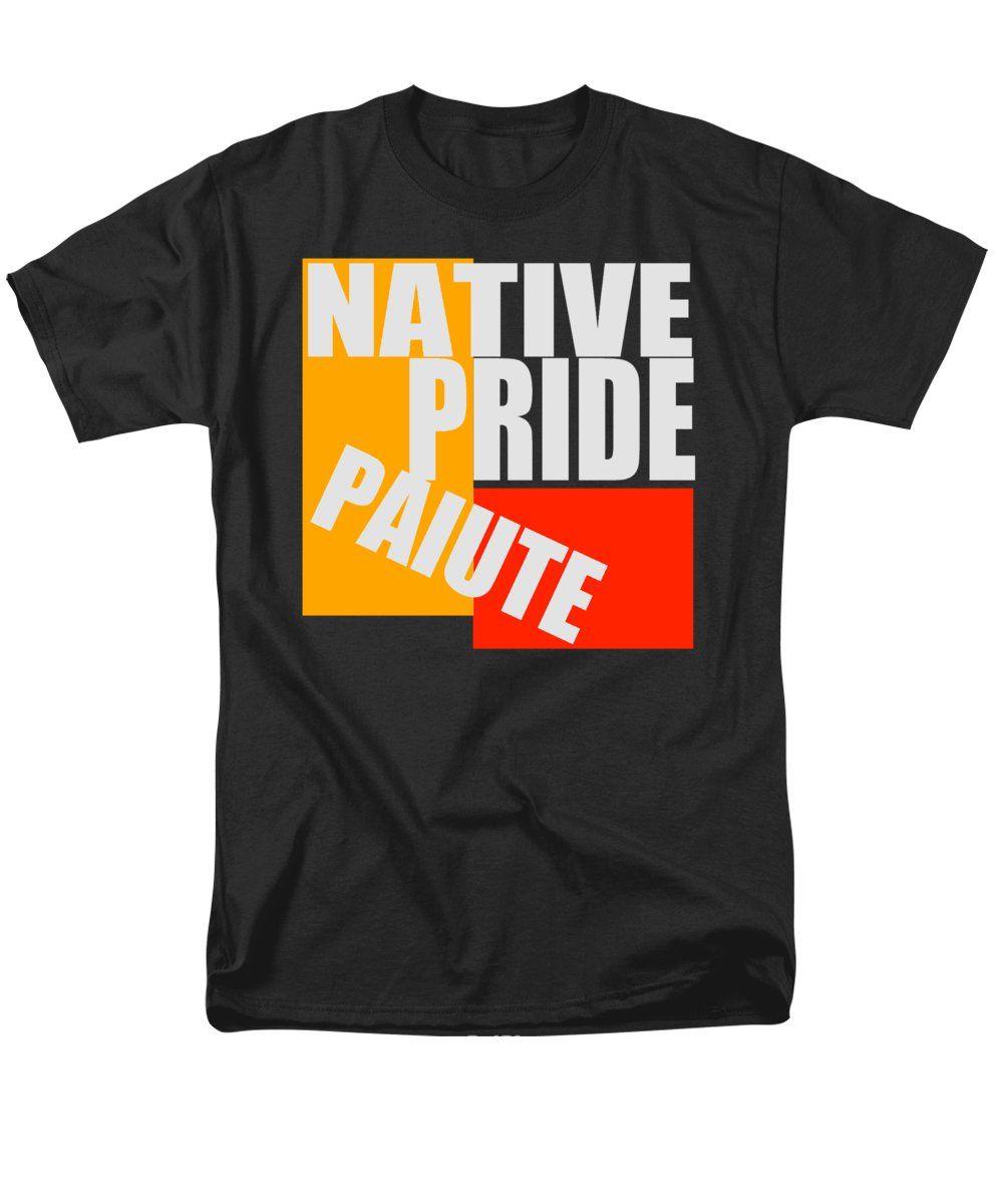 Paiute (piute) Men's T-Shirt (Regular Fit) featuring the digital art Native Pride Paiute by Otis Porritt