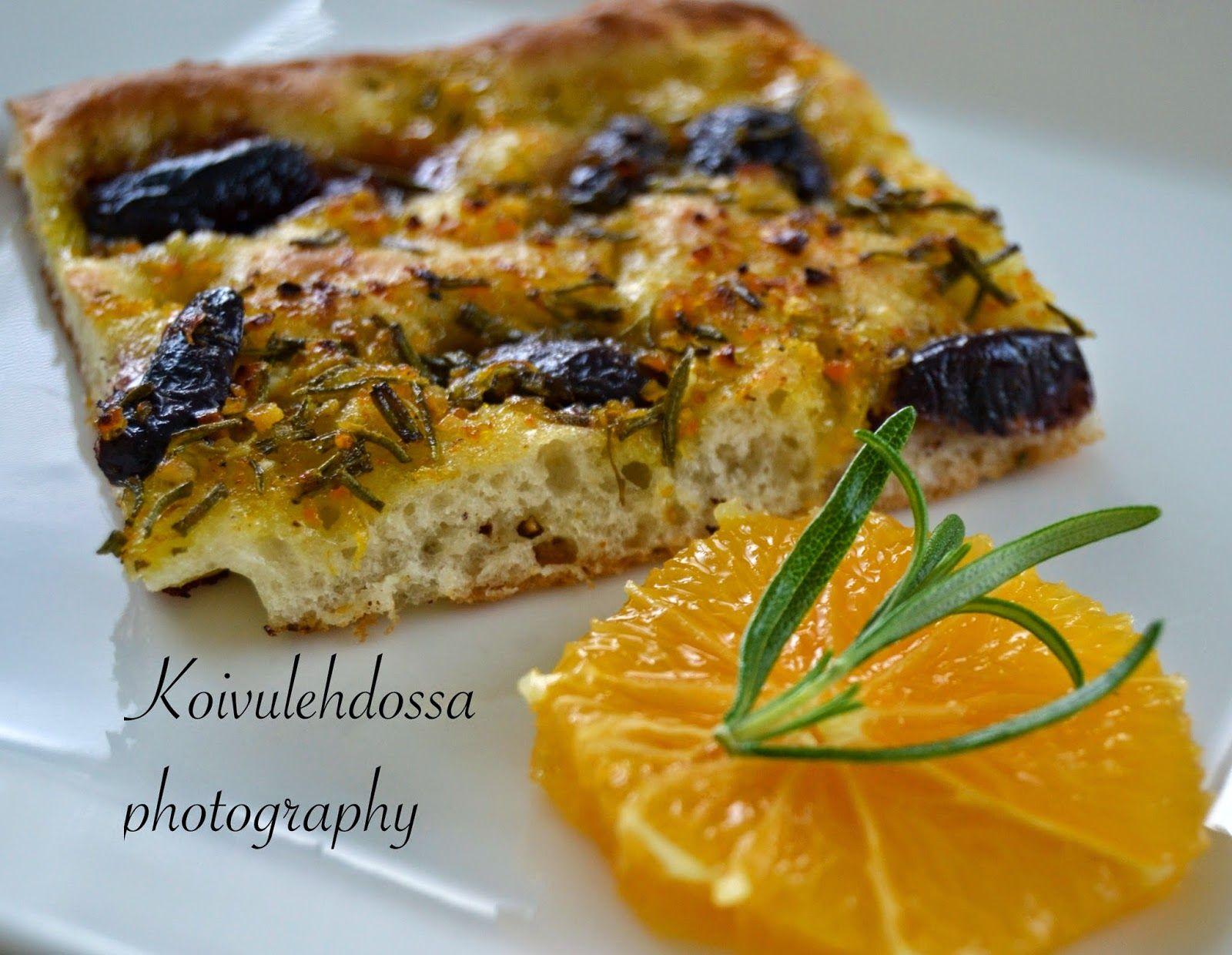 Weekendsafkaa: Appelsiini-rosmariinifocaccia