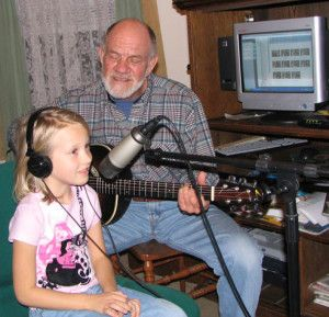 Alan Fisher Records with granddaughter, Morgan :: A beautiful song, a beautiful moment.