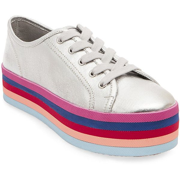 80f849db47b Steve Madden Rainbow Sneakers (930.405 IDR) ❤ liked on Polyvore featuring  shoes