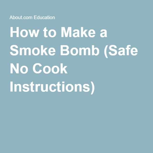 Try a Safe Smoke Bomb Recipe (No Cooking) | Chemical