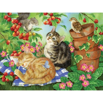 Under the Cherry Tree 500 Piece Jigsaw Puzzle
