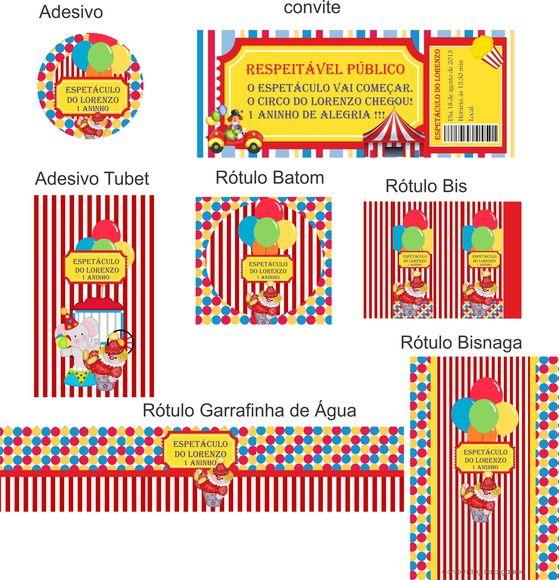 Festa Circo | ART DECORADA | 33163F - Elo7