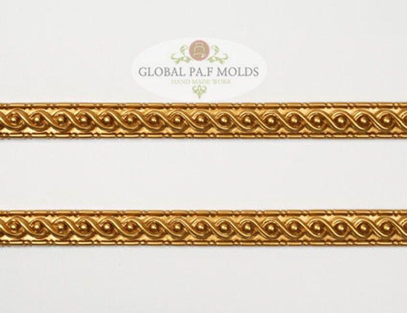 Global PAF Silicone Fondant Mold Border Vintage Trims 55555