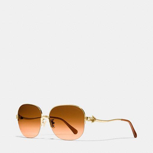 Coach Tea Rose Aviator Sunglasses Coach Fbdzb4fs