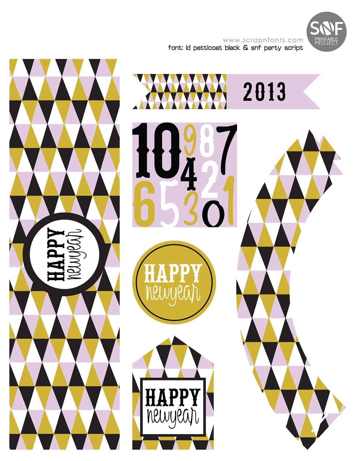 Fontaholic: FREEBIE FRIDAY: New Years Party Printable ...