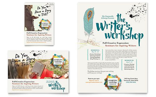 WriterS Workshop  Flyer  Ad Template  Print Layouts