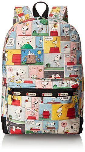 Lesportsac Peanuts X Essential Backpack Snoopy Patchwork One Size Lesportsac Backpack Snoopy Bag Backpacks Snoopy And Woodstock
