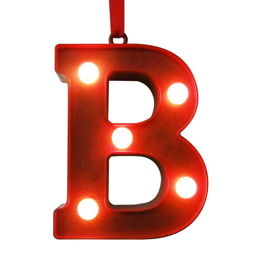 Red Metal Letters With Lights Stnicholas Square® Red Lightup Marquee Letter Christmas