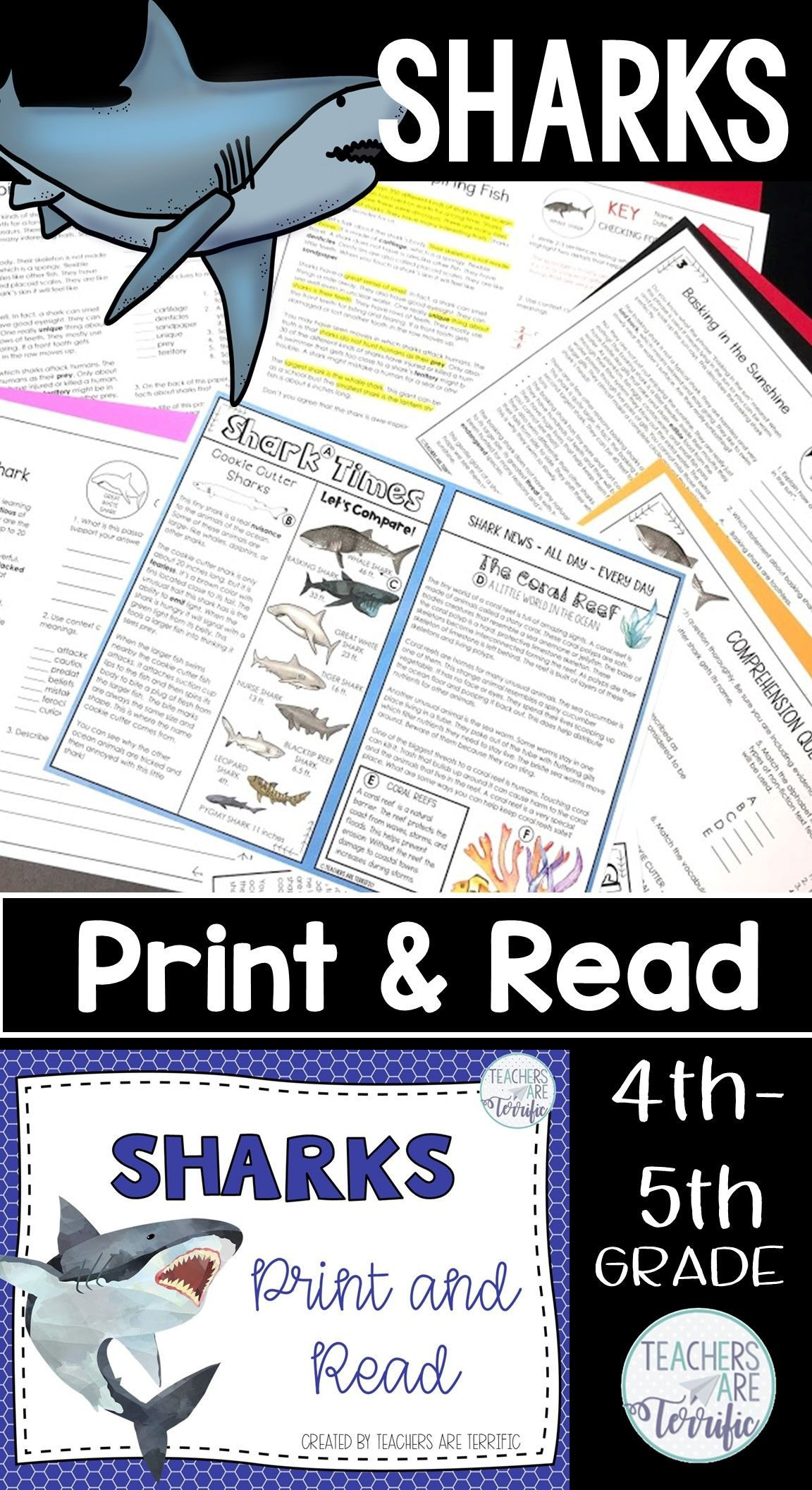 Sharks Reading Passages Print Amp Read
