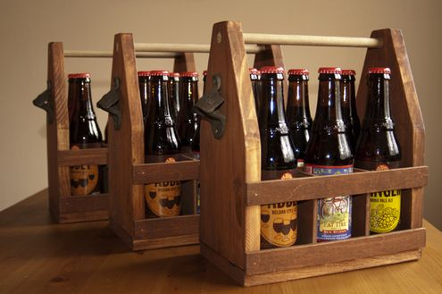 How to Make a Wooden Beer Caddy » Rawr Pinterest Beer caddy