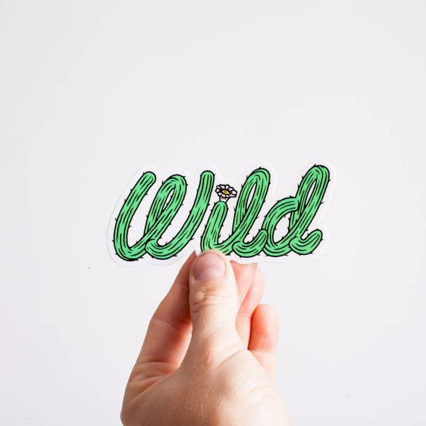 Cactus wild sticker