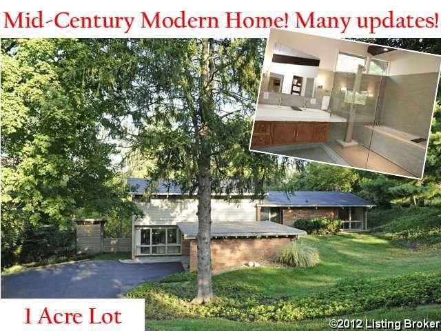 Modern Architecture Louisville Ky mid-century modern home for sale in louisville, ky! | homes for