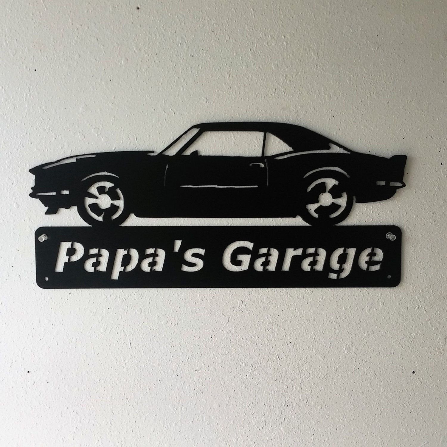 1968 Camaro Metal Car Sign  Personalized  Metal Wall