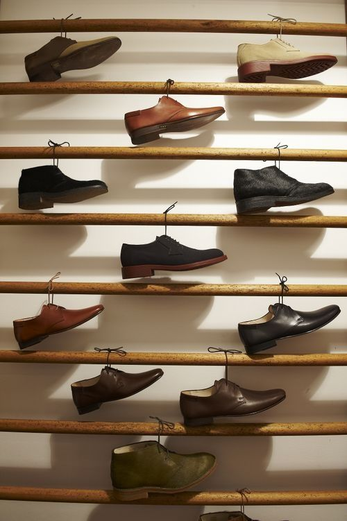 Retail Shoe Display Ideas | shoe strings ;) | Shoe Display Ideas