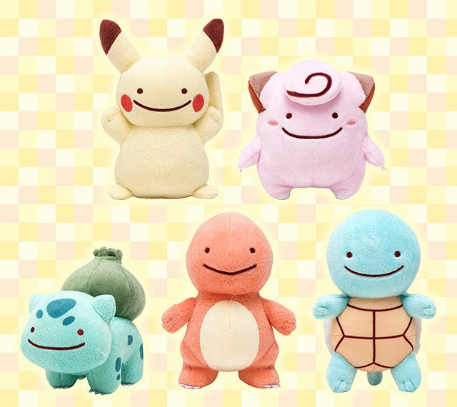 Ditto Infiltrates Pokémon Plush Line as Pikachu, Charmander ...