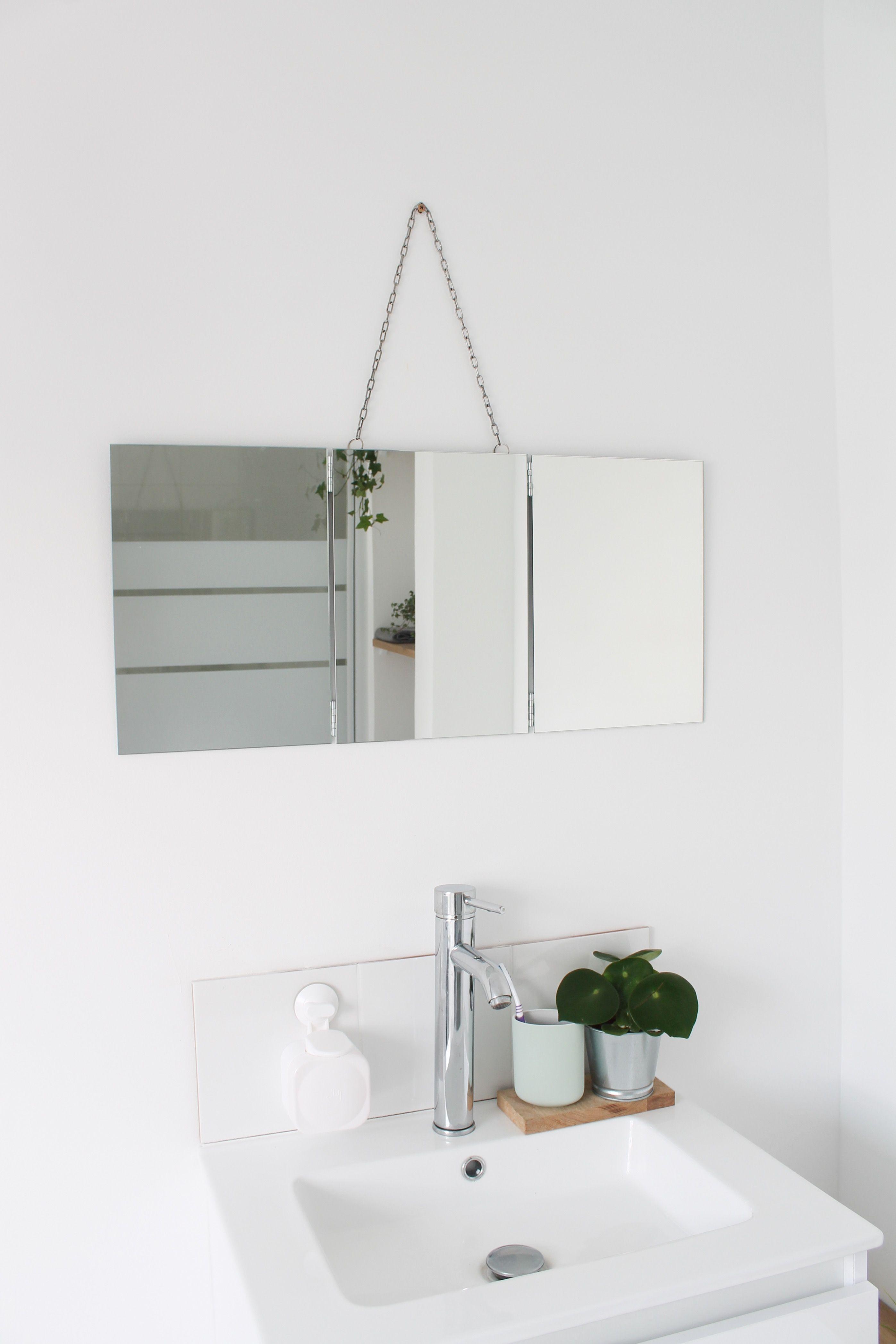 DIY MIROIR DE BARBIER TRIPTYQUE  Diy miroir, Miroir de barbier