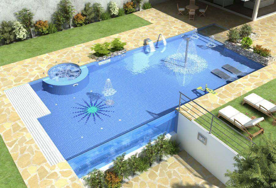 Dise o de piscinas planos buscar con google linea del - Diseno de piscinas ...