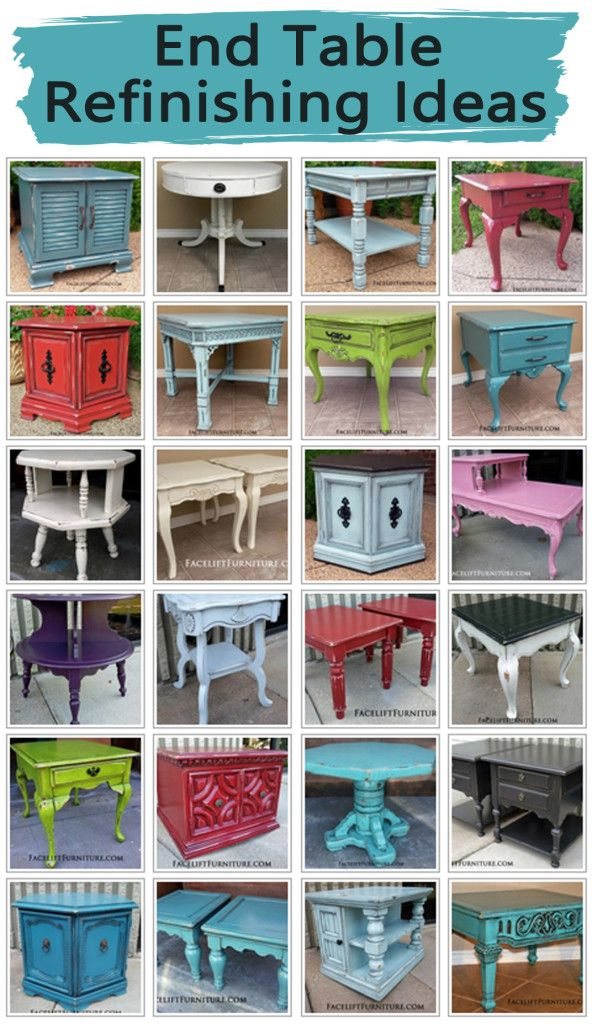 End Table Refinishing Ideas Redo Furniture Painted Furniture