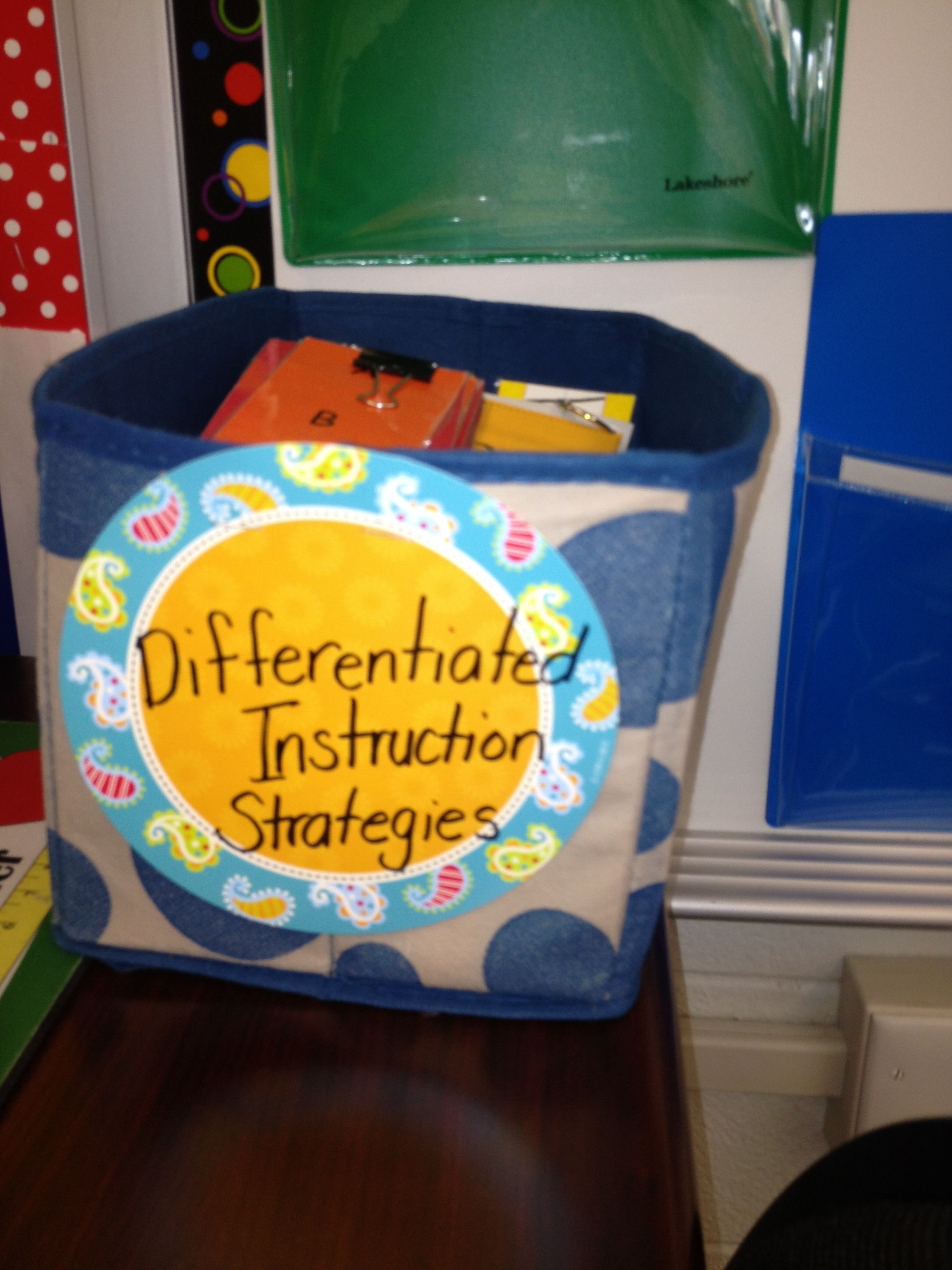 Differentiated Instruction Strategies Bin Includes Flip Cards