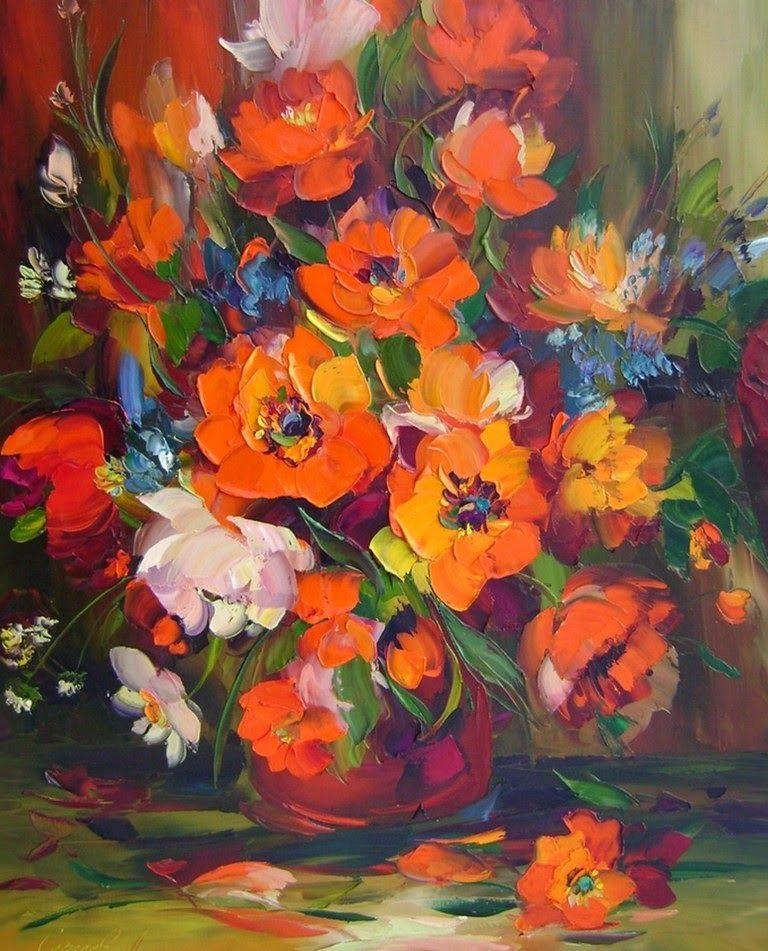 Pinturas De Flores Al Oleo Jpg 768 951 Flores Pintadas Pinturas Cuadro De Flores