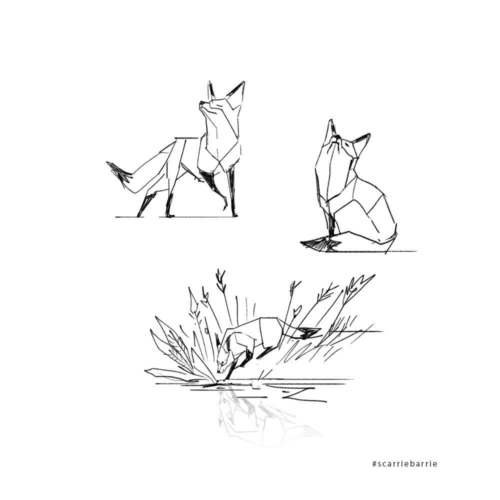 working on some geometric foxes random en 2018 pinterest tatouage dessin et dessin tatouage. Black Bedroom Furniture Sets. Home Design Ideas
