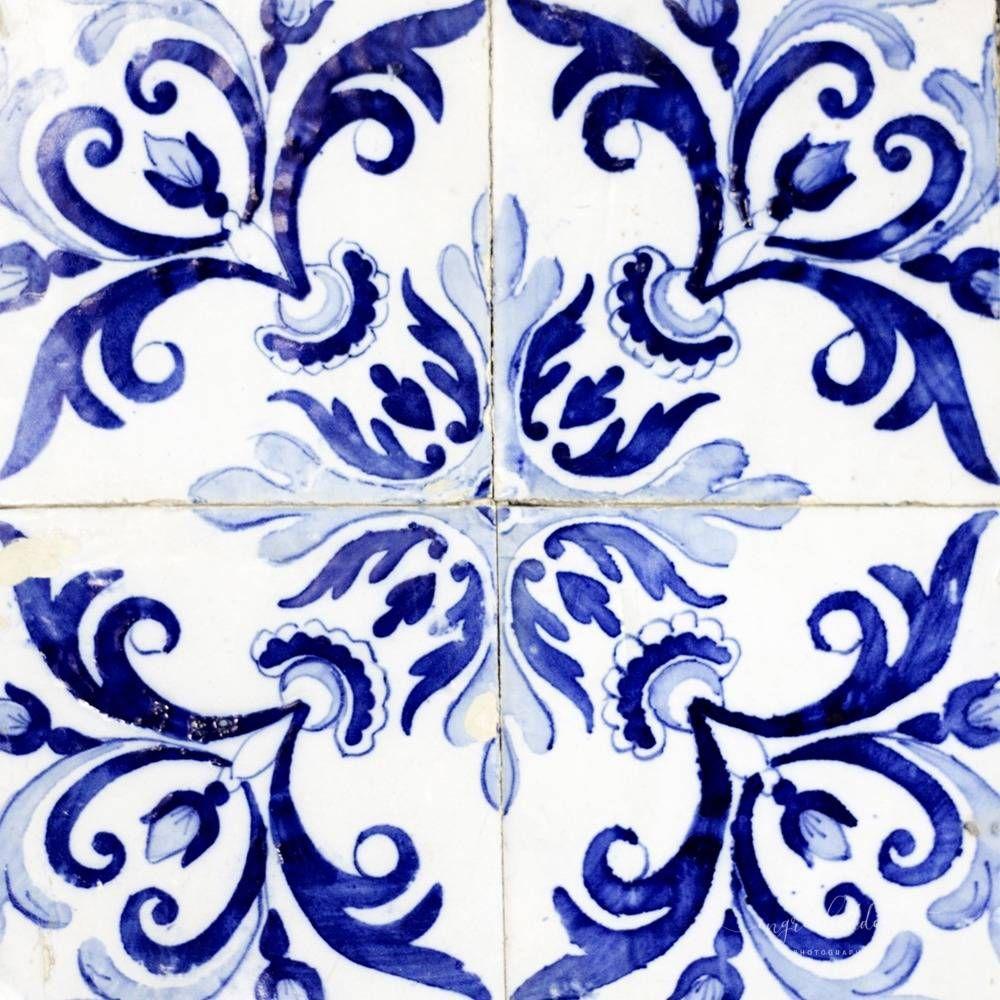 Azulejos Iii Portuguese Decorative Blue Tiles Traditional Outside Wall Decor Blue Tiles Outside Wall Decor Affordable Art Prints