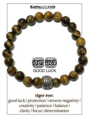 Good Luck Confidence Carnelian Lucky Elephant Gemstone Mala Bracelet Good Fortune