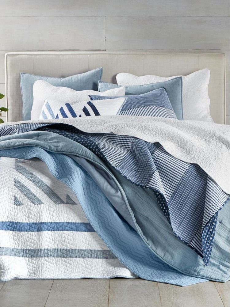 Martha Stewart Collection Coastal Quilt And Sham Collection