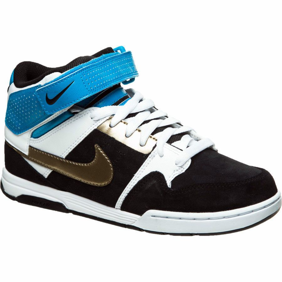 Nike Air Mogan Mid 2 skate shoes black 9 Med NEW  2d4c150ba28d
